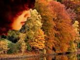 mujer de otoño