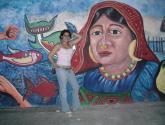 pintura mural,detalle india kuna