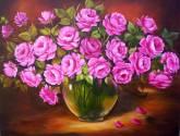 vaso de rosas rosa