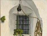 pozo andaluz, cal, blanco, luz, sombra