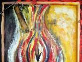Ecolo_Gesto_Ano de 2070_FOGO - A Seca e a Destruição abstracto,Obras de arte