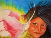 niña y  flor del espíritu santo- prohibida la reproducción