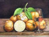 bodegon de naranjas