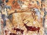 escena rupestre tenada del ciervo i nerpio