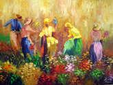 colheita de flores