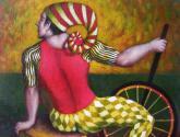 hombre con monociclo