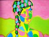 Femme Mosaique rose