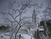 rue piat donnant sur la rue des couronnes 1945 - belleville paris xx