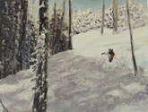 esquiando en el bosque (ref.98)