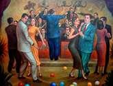 bailando en un cabaret de los años 50's