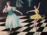 clara, giselle and the chessboard