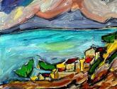 paisaje con mar