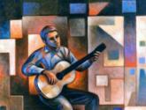 el joven guitarrista  de la azotea
