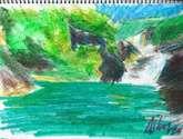 cascada esmeralda