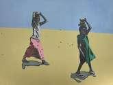 niñas en el desierto