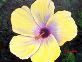 hibiscus - óleo sobre lienzo