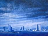 tormenta en el puerto