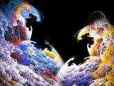 la luna en colores