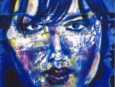 mancha azul