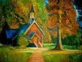 casa en otoño
