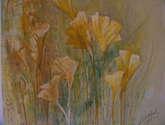 reflejos florales en amarillo