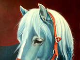 nostalgia azul 77 cm x 61 cm oleo / lienzo