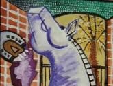 gran caballo violeta