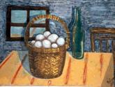 cesta con huevos