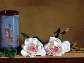 rosas y jarron chino