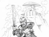 guerrero con espada