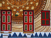 a colourful kolkata housewall