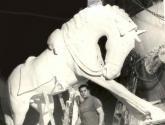 caballo criollo, detalle del monumento a san martín, tandil, argentina