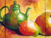 la jarra verde y los duraznos