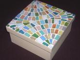mosaico en abanicos pastel