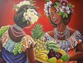 mojongos con flores y frutas.