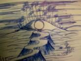 ballpoint sketching
