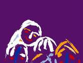 niños de pincel lila