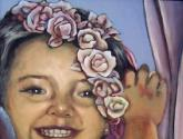 UNA NIÑA CON FLORES   Girl with Flowers