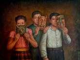 niños con máscaras