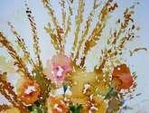 canastilla de flores  secas ..