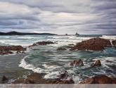 mar y rocas 88 x 63 cm