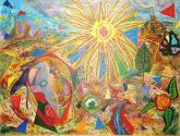 labradora frente al sol al acercarse la época de la cosecha