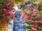 beauty of flowers door