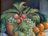 naranjas uvas y ciruelas
