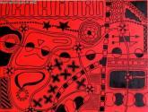 universo en color rojo