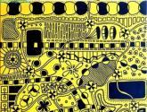 universo en color amarillo