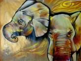 elefantes oro