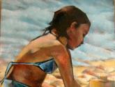 figura en la playa