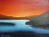 amanecer en el lago de coatepeque 2