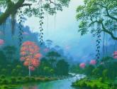 rio y amapolas